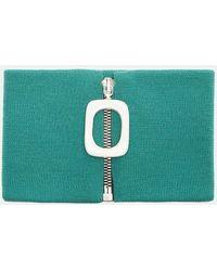 J.W.Anderson - Zipped Neckband In Green - Lyst
