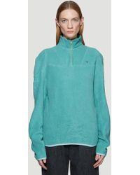 GmbH - Moses Fleece Sweatshirt In Blue - Lyst