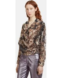 Anntian - Elasticated Floral Top In Multi - Lyst