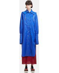 Marni - Hooded Tailored Shirt Cuff Rain Coat In Blue - Lyst