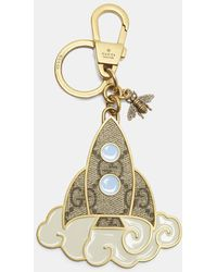 Gucci - Rocket Ship Keyring In Gold - Lyst