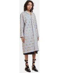 Marni - Metallic Embroidered Coat In Blue - Lyst