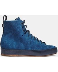 Feit - Women's Hand Sewn Super High Suede Trainers In Blue - Lyst