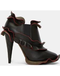 recommend sale online Fendi Leather Ruffle Booties choice ecGZJ8o6g