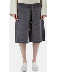 Lauren Manoogian - Women's Miter Long Drawstring Knit Shorts In Brown - Lyst