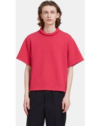 Mohsin - Men's Rufus Textured Padded Ring Collar T-shirt In Pink - Lyst
