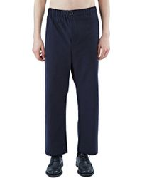 Marvielab - Men's Cropped Straight Leg Pants In Navy - Lyst