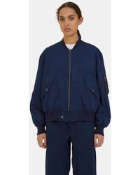 STORY mfg. - Women's Seed Bomber Jacket In Indigo - Lyst