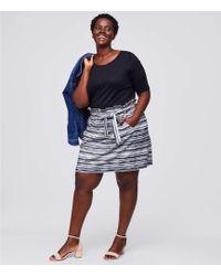 LOFT - Plus Stripe Belted Pull On Pocket Skirt - Lyst