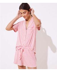 LOFT - Petaled Pajama Set - Lyst