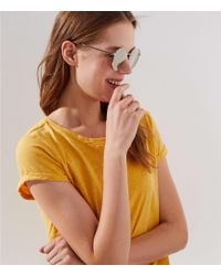 LOFT - Metallic Round Sunglasses - Lyst
