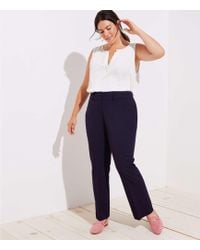 LOFT - Plus Trousers In Custom Stretch - Lyst