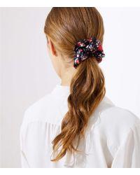 LOFT - Floral Scrunchie - Lyst