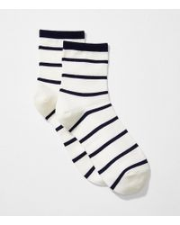 LOFT - Striped Ankle Socks - Lyst
