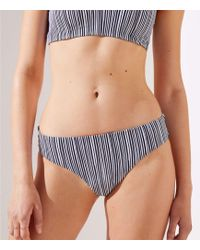 LOFT - Beach Striped Reversible Bikini Bottom - Lyst
