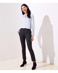 LOFT - Petite Velvet Dot Skinny Ankle Trousers In Marisa Fit - Lyst