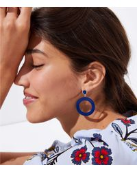 LOFT - Marbleized Circle Drop Earrings - Lyst