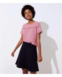 LOFT - Petite Ponte Flippy Skirt - Lyst