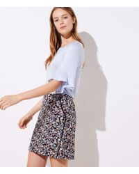 LOFT - Floral Lacy Pocket Shift Skirt - Lyst