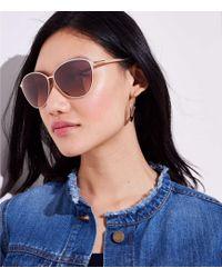 LOFT - Metallic Cateye Sunglasses - Lyst