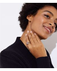 LOFT - Pave Gem Ring - Lyst