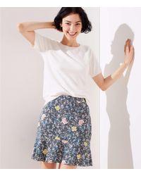 LOFT - Plus Floral Vine Flippy Skirt - Lyst