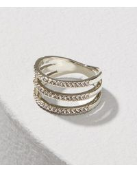 LOFT - Pave Stacked Ring - Lyst