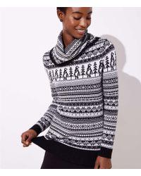 LOFT - Penguin Fairisle Sweater - Lyst