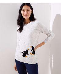 LOFT - Penguin Sweater - Lyst
