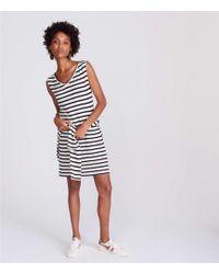 LOFT - Lou & Grey Striped V-neck Dress - Lyst