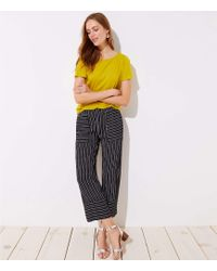 LOFT - Petite Mixed Stripe Wide Leg Pants - Lyst