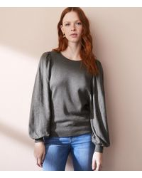 LOFT | Lou & Grey Peachskin Blouson Sweater | Lyst