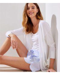 LOFT - Striped Pajama Shorts - Lyst