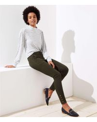 LOFT - Skinny Snap Cuff Trousers In Marisa Fit - Lyst