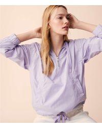 LOFT - Lou & Grey Garment Dye Poplin Hoodie Jacket - Lyst