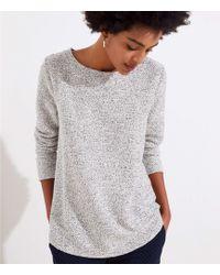 c515b1605f LOFT Petite Puff Sleeve Sweatshirt in Gray - Lyst