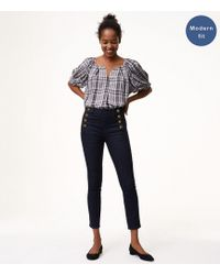 LOFT - Petite Modern Sailor Skinny Jeans In Dark Rinse Wash - Lyst