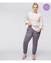 LOFT - Plus Girlfriend Chinos - Lyst