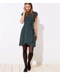 LOFT - Petite Dotted Wrap Skirt Flutter Dress - Lyst