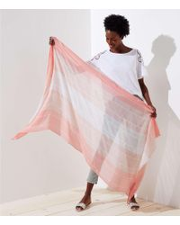 LOFT - Ombre Striped Scarf - Lyst