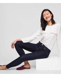 LOFT - Petite Modern Skinny Jeans In Dark Rinse Wash - Lyst