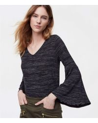 LOFT - Petite Spacedye Bell Sleeve Top - Lyst
