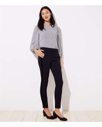 LOFT - Skinny Velvet Stripe Ankle Trousers In Marisa Fit - Lyst