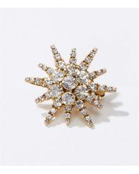LOFT - Crystal Starburst Pin - Lyst