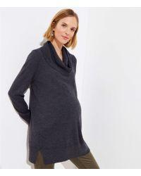LOFT - Maternity Cowl Neck Tunic Sweater - Lyst