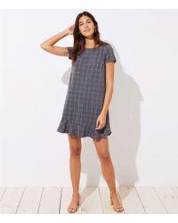 4321b6e9590 Madewell Twirl Dress in Windowpane Plaid in Black - Lyst