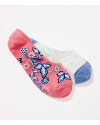 LOFT - Flower & Speckle No Show Sock Set - Lyst