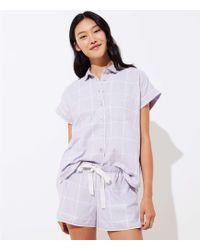 LOFT - Plaid Pyjama Set - Lyst