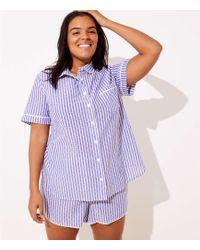LOFT - Plus Dot Pajama Top - Lyst