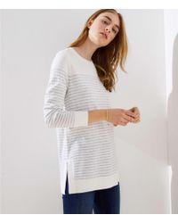 cd10ee23187a LOFT Turtleneck Poncho Sweater - Lyst
